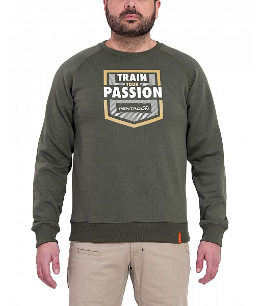 "Hawk ""Train Your Passion"" Sweater"