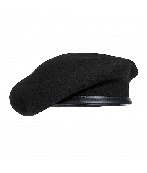 French Style Beret - Black